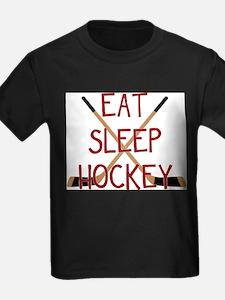 Unique Youth eat sleep ice hockey T