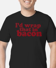 Cute Bacon Men's Fitted T-Shirt (dark)