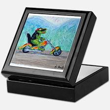 Frog On Hog Keepsake Box