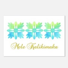 Mele Kalikimaka Quilt Postcards (Package of 8)