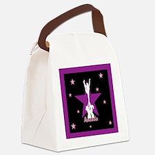 Cheerleader pink Canvas Lunch Bag