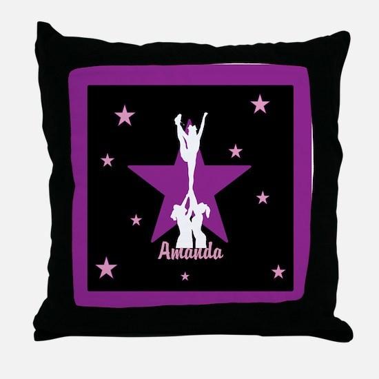 Cheerleader pink Throw Pillow