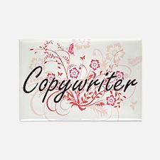 Copywriter Artistic Job Design with Flower Magnets