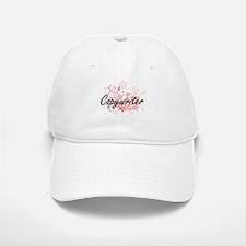 Copywriter Artistic Job Design with Flowers Baseball Baseball Cap