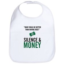 Silence & Money Bib