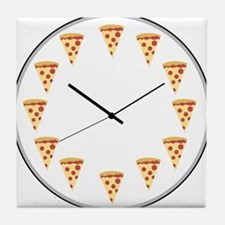 Pizza Clock Tile Coaster