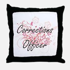 Corrections Officer Artistic Job Desi Throw Pillow