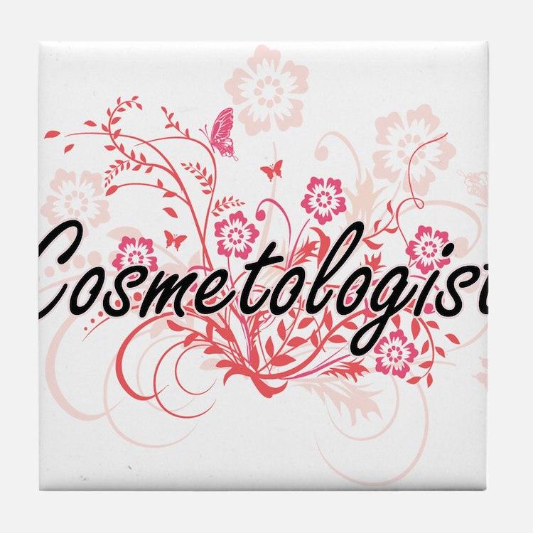 Cosmetologist Artistic Job Design wit Tile Coaster