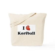 I (Heart) Korfball Tote Bag