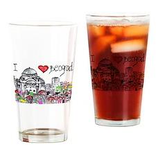 I love Beograd Drinking Glass