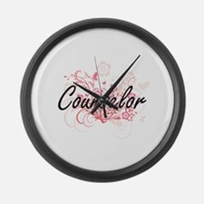 Counselor Artistic Job Design wit Large Wall Clock
