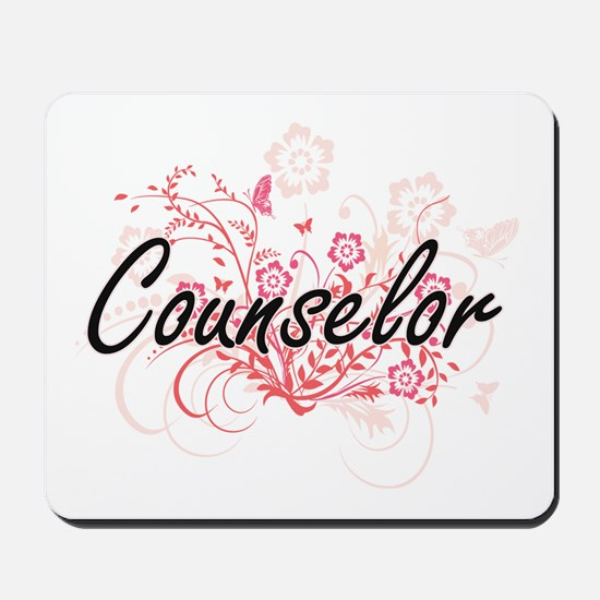 Counselor Artistic Job Design with Flowe Mousepad