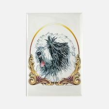 Old English Sheepdog Ho Rectangle Magnet (10 pack)