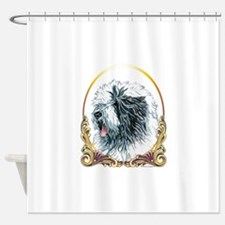 Old English Sheepdog Holiday Shower Curtain