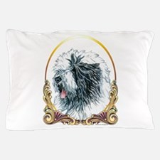 Old English Sheepdog Holiday Pillow Case