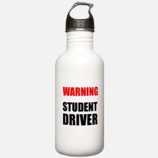 Warning Student Driver Water Bottle