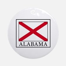 Alabama Round Ornament
