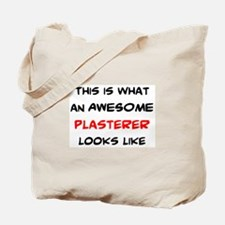awesome plasterer Tote Bag