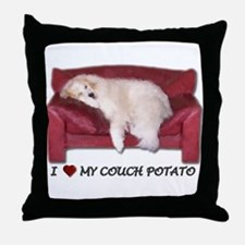 Great Pyrenees Throw Pillow - Couch Potato
