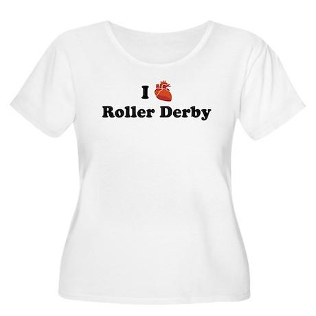 I (Heart) Roller Derby Women's Plus Size Scoop Nec