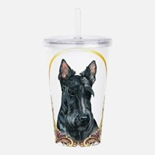 Scottish Terrier Holid Acrylic Double-wall Tumbler