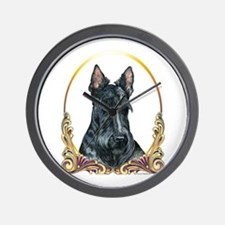 Scottish Terrier Holiday Wall Clock