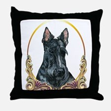 Scottish Terrier Holiday Throw Pillow