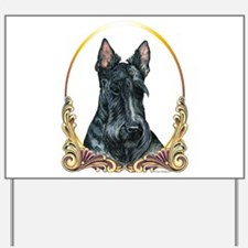 Scottish Terrier Holiday Yard Sign