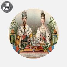 "Coronation Nicholas II 3.5"" Button (10 pack)"