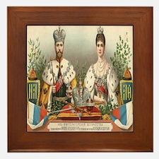 Coronation Nicholas II Framed Tile