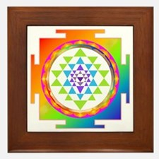 Unique Sri yantra Framed Tile