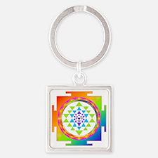 Chakra meditation Square Keychain