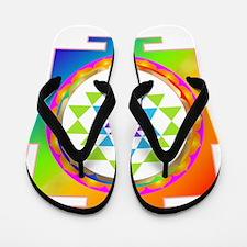 Sri Yantra Rainbow Chakra Flip Flops