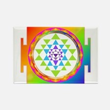 Sri Yantra Rainbow Chakra Magnets