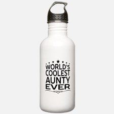 WORLD'S COOLEST AUNTY EVER Sports Water Bottle