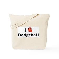 I (Heart) Dodgeball Tote Bag