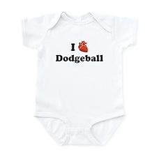 I (Heart) Dodgeball Infant Bodysuit