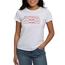 Softball Mom Red Lace T-Shirt