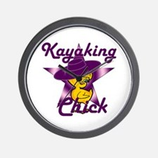 Kayaking Chick #9 Wall Clock