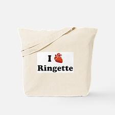I (Heart) Ringette Tote Bag