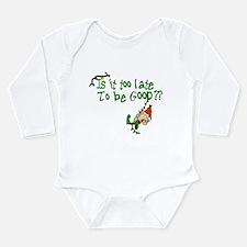 Unique Xmas elf Long Sleeve Infant Bodysuit