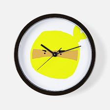 Yellow Ninja Face Wall Clock