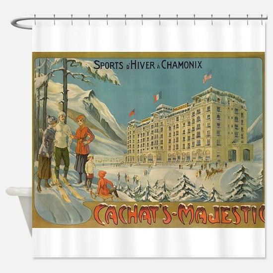 Cachet's Majestic, Chamonix, Shower Curtain