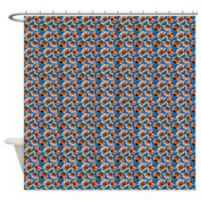 Turkey Disquise in Fedora, Mustache Shower Curtain