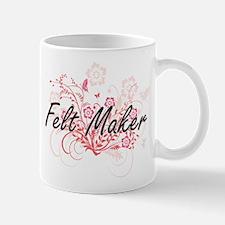 Felt Maker Artistic Job Design with Flowers Mugs