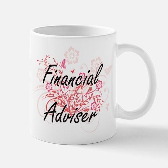 Financial Adviser Artistic Job Design with Fl Mugs