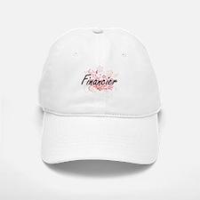 Financier Artistic Job Design with Flowers Baseball Baseball Cap