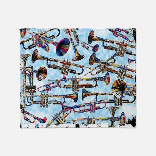 Unique Trumpet Throw Blanket