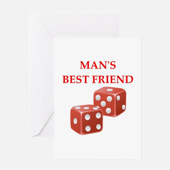 dice Greeting Cards