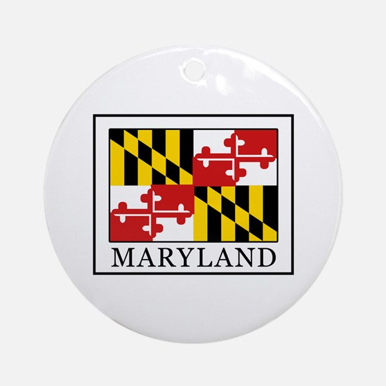 Maryland Round Ornament